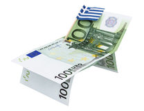 Concept geld en vlag stock foto