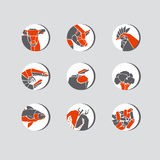 Concept geometry style food icon vector illustration. Royalty Free Stock Photo