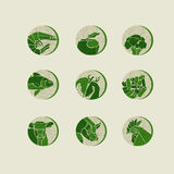 Concept geometry style food icon vector illustration. Stock Photo