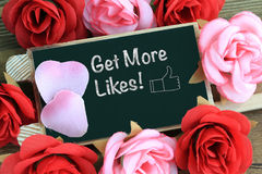 Concept of get more likes Royalty Free Stock Image