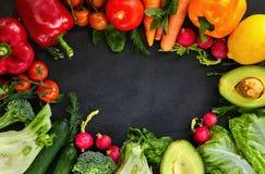 Concept Gezond Voedsel, Verse Groenten en Vruchten royalty-vrije stock afbeeldingen