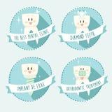 Concept gezonde tanden, pictogramreeks, illustratie Stock Afbeelding