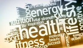 Concept gezondheid en wellness royalty-vrije illustratie