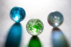 Concept glass planets Royalty Free Stock Image