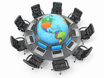 Concept of global business communication. Stock Photography