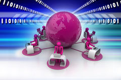 Concept of global business communication Stock Photo