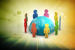 Concept of global business communication Royalty Free Stock Photography