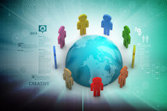 Concept of global business communication Stock Photography
