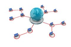 Concept of global business communication Stock Image