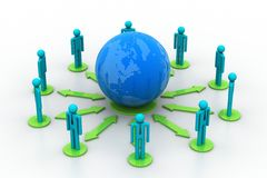 Concept of global business network Stock Images