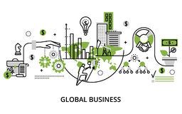 Concept of global business process and finance success in the wo Royalty Free Stock Image