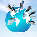 Concept of global business team Stock Images