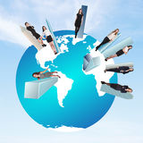 Concept of global business team Stock Photo
