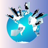 Concept of global business team Stock Image