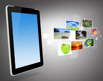 Concept of global business, Touchpad Stock Image