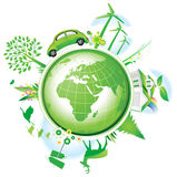 Concept global d'économie. Images libres de droits