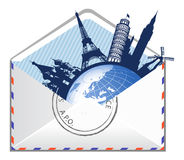 Concept global d'email. Photo stock