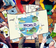 Concept global de connexion de la Communauté de société mondiale du monde images stock