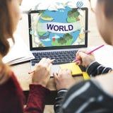Concept global de connexion de la Communauté de société mondiale du monde photos stock