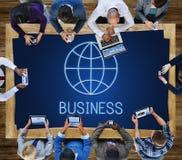 Concept global de Economics Corporation d'entreprise photographie stock libre de droits