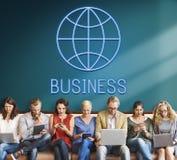 Concept global de Economics Corporation d'entreprise photographie stock