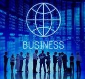 Concept global de Economics Corporation d'entreprise photo libre de droits