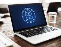 Concept global de Economics Corporation d'entreprise images stock