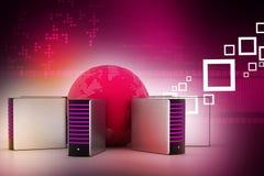 Concept global de gestion de réseau Photo stock