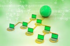 Concept global de gestion de réseau Images libres de droits