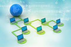 Concept global de gestion de réseau Photographie stock libre de droits