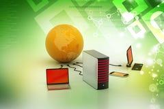 Concept global de gestion de réseau Photo libre de droits