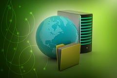 Concept global de gestion de réseau Photos libres de droits
