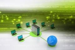 Concept global de gestion de réseau Photographie stock