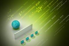 Concept global de gestion de réseau Image stock