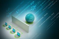 Concept global de gestion de réseau Image libre de droits