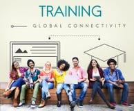 Concept global de graphique de connectivité d'éducation photo libre de droits