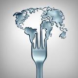 Concept global de nourriture Photographie stock