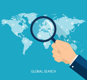 Concept global de recherche dans le style plat Illustration de vecteur illustration de vecteur
