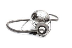 Concept global de soins de santé et de médecine image stock