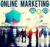 Concept global de stratégie commerciale de marketing en ligne Photos libres de droits