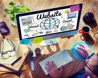 Concept global de technologie en ligne de WWW de site Web Photos stock