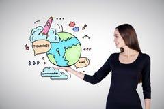 Concept global de technologies Image libre de droits