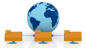 Concept of global network Stock Image
