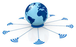 Concept of global network Stock Photos
