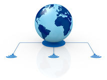 Concept of global network Royalty Free Stock Photos