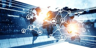 Concept of global networking royalty free stock image