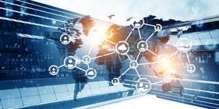 Concept of global networking stock image