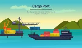 Concept global plat de transport de vecteur Image libre de droits