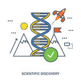 Concept of global scientific discovery and innovation Stock Images