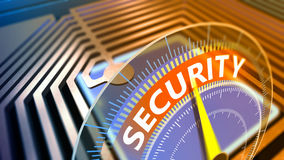 Concept of global security computer Royalty Free Stock Photo